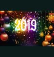 happy new year 2019 background with christmas vector image vector image