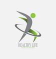 healthy life logo design vector image vector image