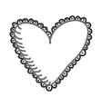 heart monochrome love icon vector image vector image