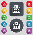 Hotkey icon sign A set of 12 colored buttons and a vector image
