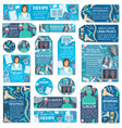 medicine and health care tags labels with doctor vector image vector image
