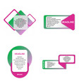 modern elements infografics template for your vector image vector image
