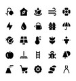 nature and ecology solid icons 1 vector image