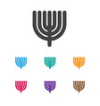 of religion symbol on menorah vector image
