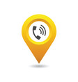 phone location pin vector image