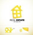Real estate yellow house logo icon vector image vector image
