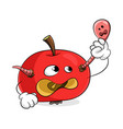 red rotten apple remove worm from yourself vector image vector image