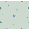 seamless pattern with seashell repeating vector image vector image
