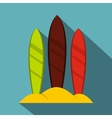 Serfing board icon flat style vector image
