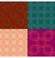 Set of four ornamental seamless pattern vector image vector image