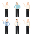 Set of office workers vector image vector image