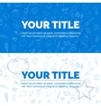 Set of text your title on white and blue vector image