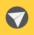 simple send button paper plane vector image