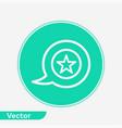 speech bubble icon sign symbol vector image