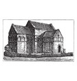 st aldhelms church bradford-on-avon vintage vector image vector image
