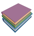 Stack of books isometric projection vector image vector image