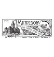 state banner minnesota north star vector image vector image