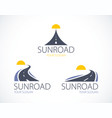 the roads to the setting sun curved highways vector image