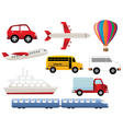 transportation and travel vector image vector image