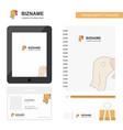 turkey business logo tab app diary pvc employee vector image