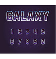 Universe 80s Retro Sci-Fi Font Alphabet vector image vector image