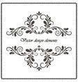 vintage decorative element calligraphic frame vector image vector image