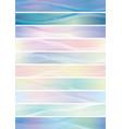 wavy pattern banner set vector image vector image