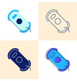 window cleaning robot icon set in flat and line vector image