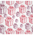 Vintage Christmas presents seamless pattern vector image