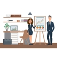 Business professional work team Meeting and vector image