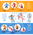 Sportsmen Isometric Horizontal Banners vector image