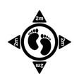 1251 social distancing footprint 2m vector image