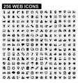 256 web icons vector image vector image