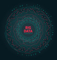 abstract 3d big data visualization futuristic vector image