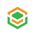 abstract hexagon business logo image vector image vector image