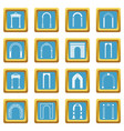 arch set icons azure vector image vector image
