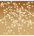 Autumn tree with leaves vector image vector image