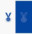 award honor medal rank reputation ribbon line and vector image vector image