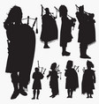 backpacker silhouettes vector image vector image