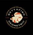 betta fish geometric badge t shirt tee merch logo vector image