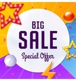big sale cover with elements on colorful vector image vector image