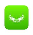 bird wing icon green vector image