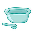 bowl and spoon isolated vector image vector image