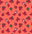 Christmas pattern red