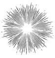 Comic style black and white radial explosion vector image vector image
