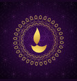 decorative golden diwali diya background vector image vector image