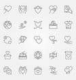 donation and charity icons set - donate vector image