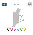 dotted map belize simple silhouette belize