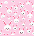 easter rabbit seamless pattern on pink background vector image vector image
