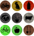 Farming and Agriculture Icons in color part 1 vector image